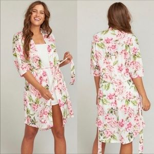 NEW Show Me Your Mumu Brie Floral Robe OS